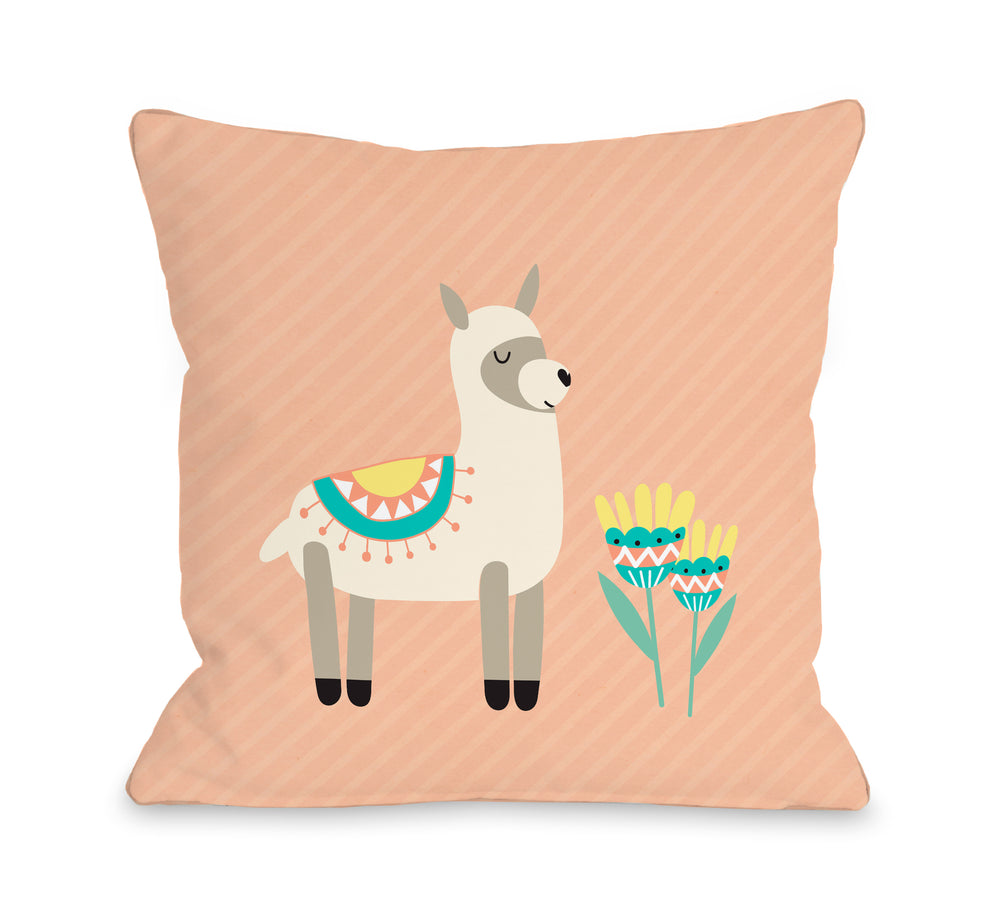 Alpaca  - Throw Pillow by OBC
