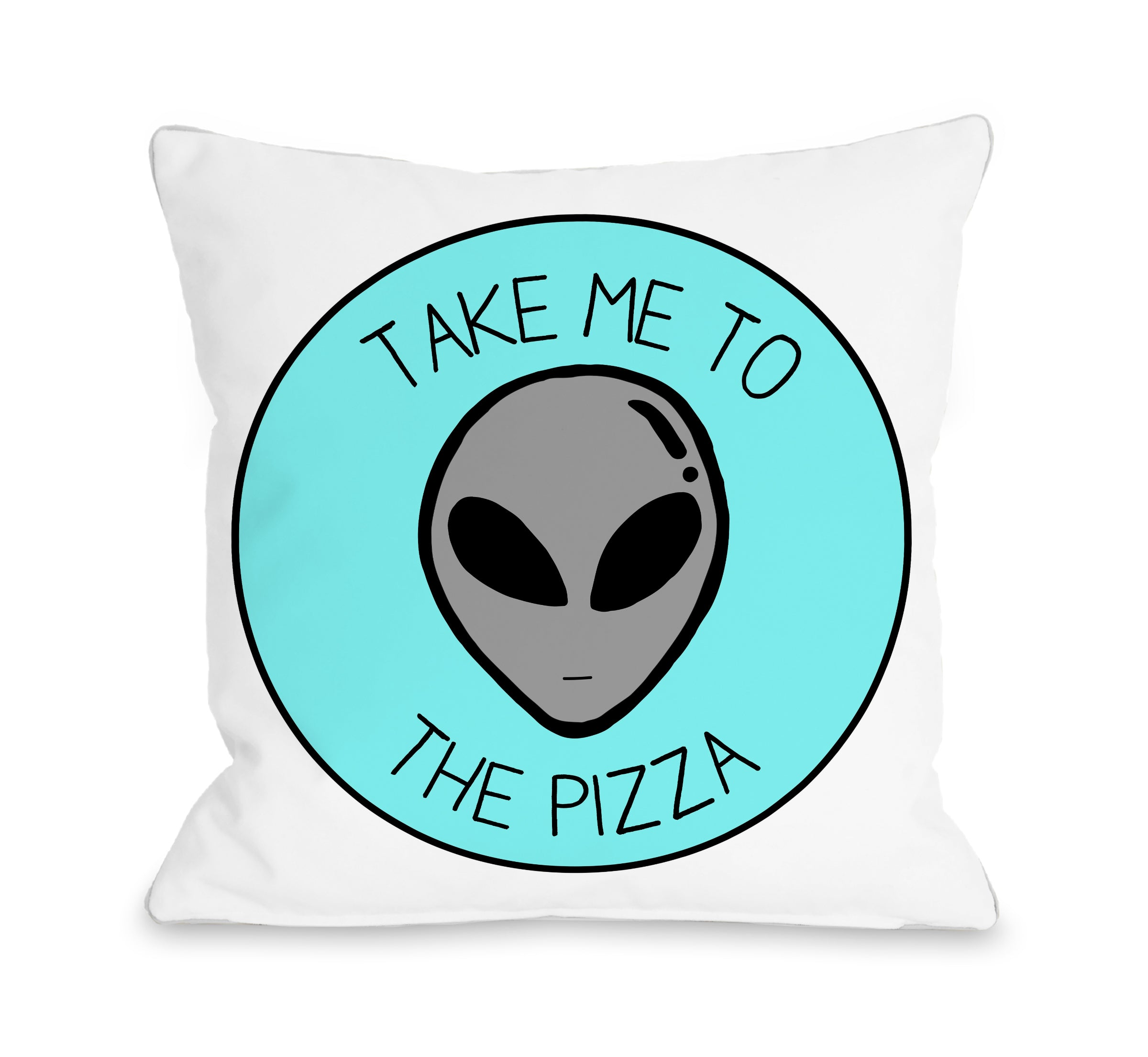 Take Me To The Pizza Throw Pillow By Obc