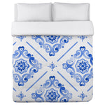 Royal Victoria - Navy Lightweight Duvet Cover by OBC