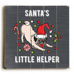 Santa's Little Helper - Gray Multi Planked Wood Wall Decor by OBC