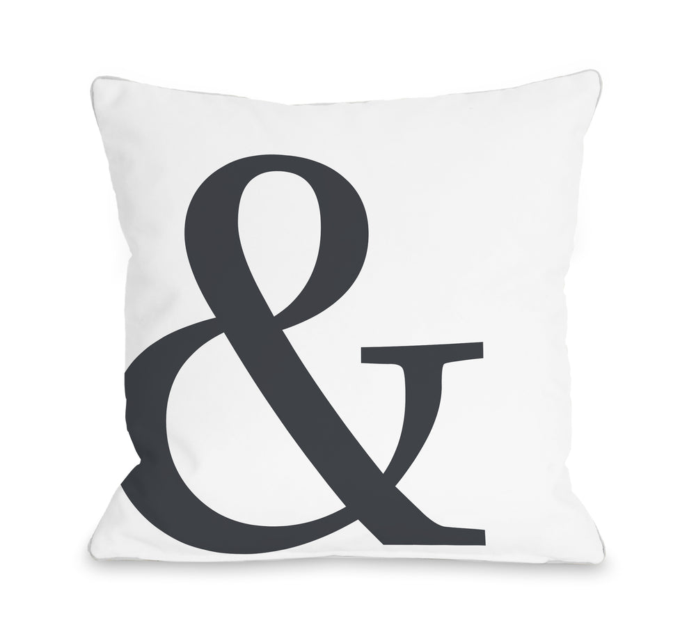 Ampersand Throw Pillow By OBC