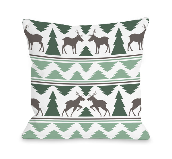 Winter Forest Throw Pillow by OBC