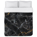 Allegra Agate - Black Lightweight Duvet Cover by OBC