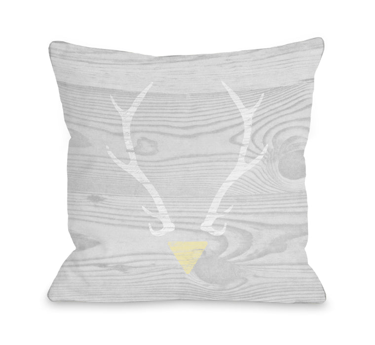 Antler Triangle - Grey  by Cheryl Overton