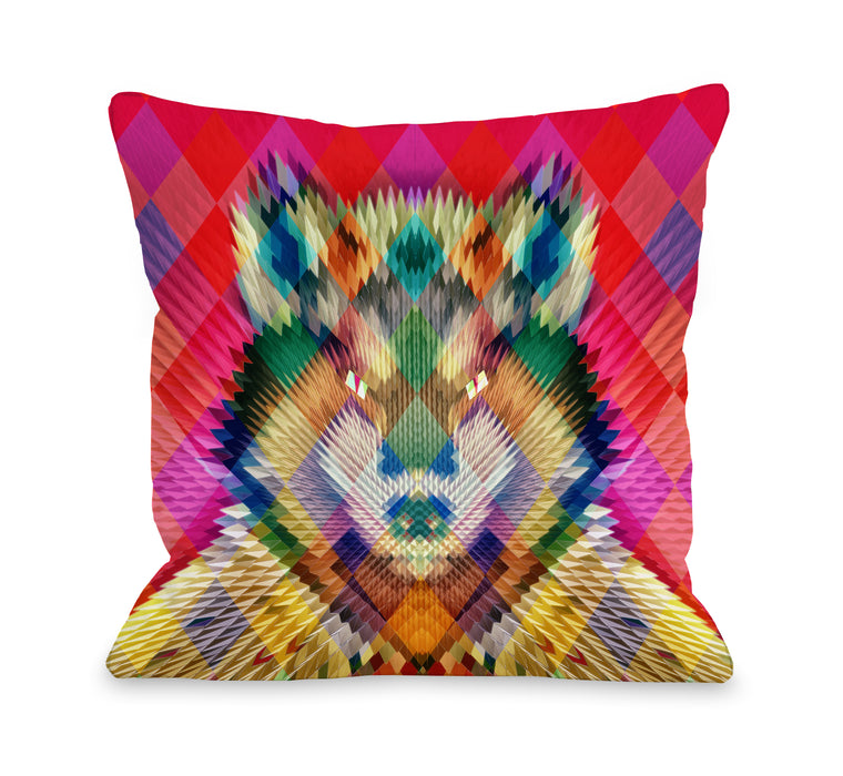 Corporate Wolf - Multi Throw Pillow by Ali Gulec