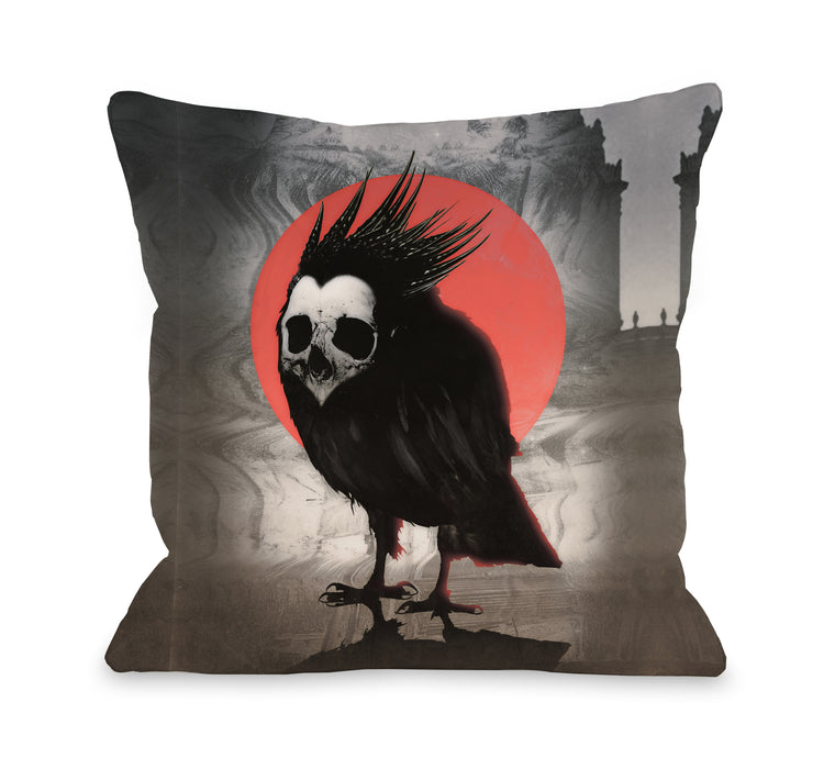 Birdie - Multi Throw Pillow by Ali Gulec