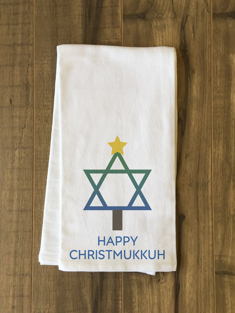 Christmukkah - Multi Tea Towel by OBC