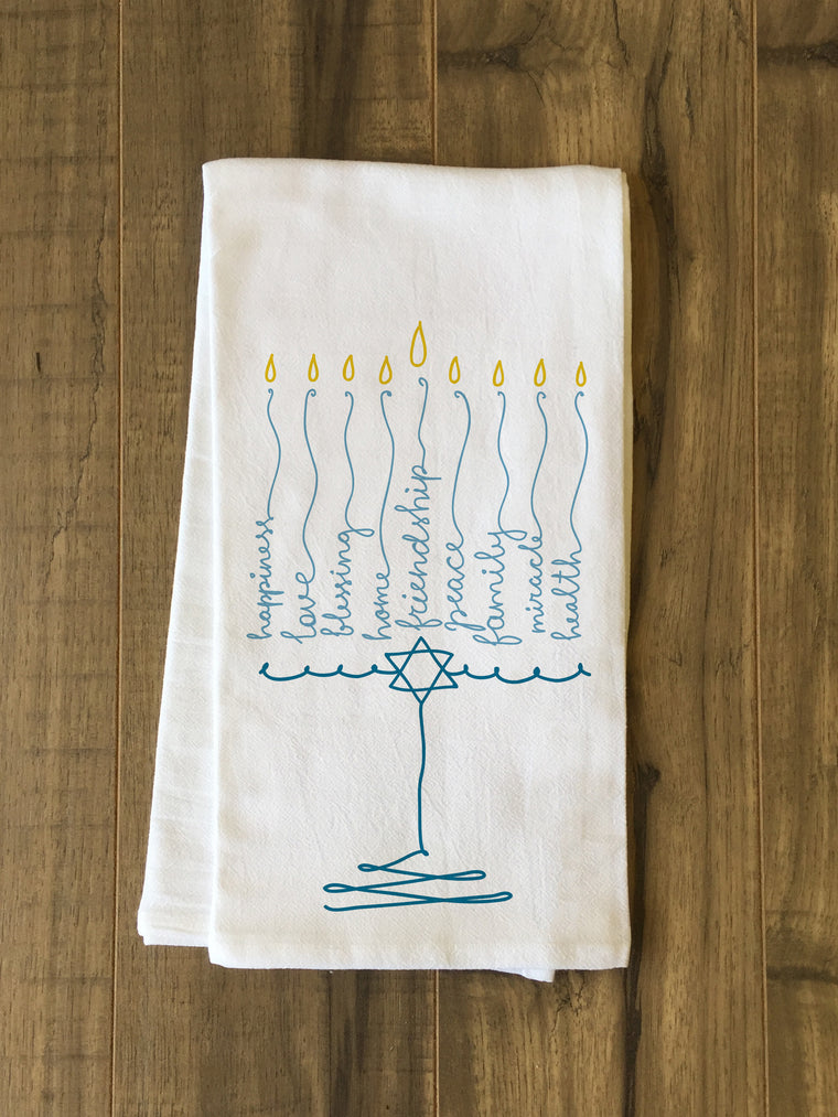 Menorah Words Kitchen Towel by OBC