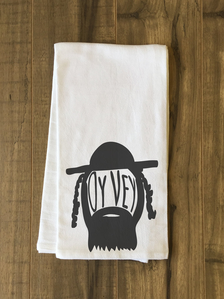 Oy Vey Man Kitchen Towel by OBC