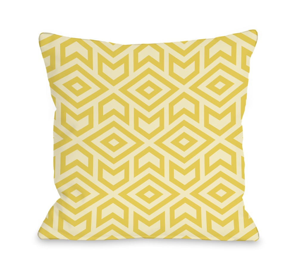 Zane Lemon Outdoor Throw Pillow