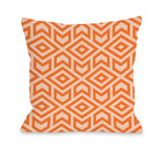 Zane Tangerine Outdoor Throw Pillow