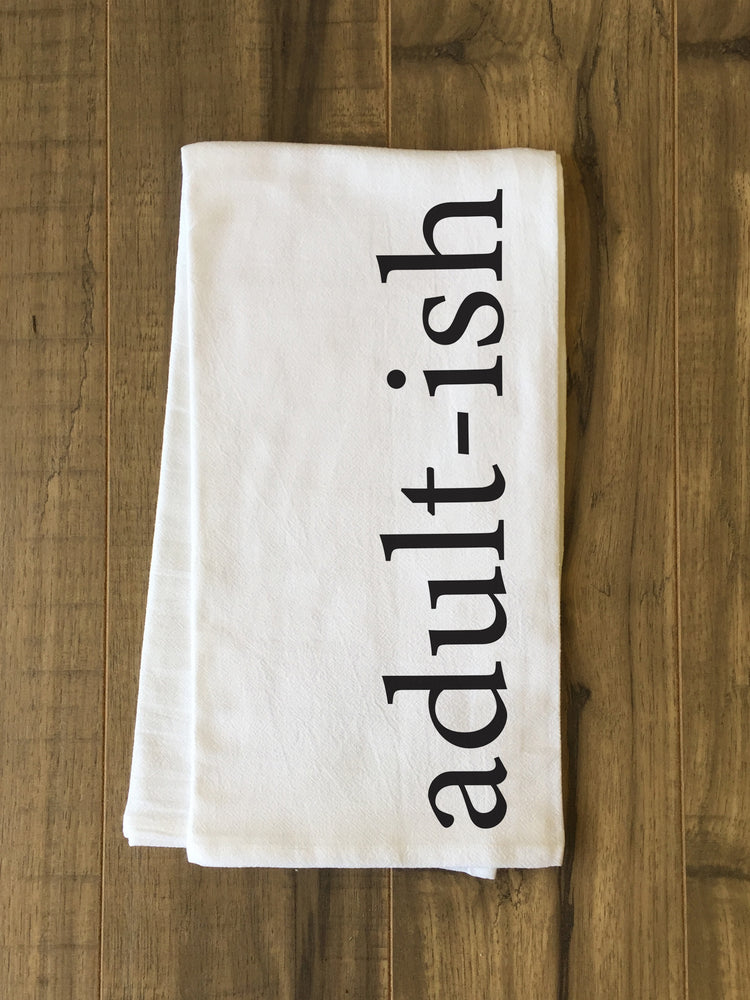 Adult-Ish Tea Towel by OBC