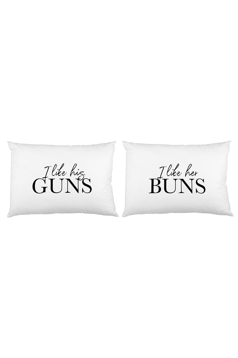 Guns Buns Pillowcase Set By OBC