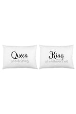 Queen Of Everything King Of Whats Left Pillowcase Set By OBC