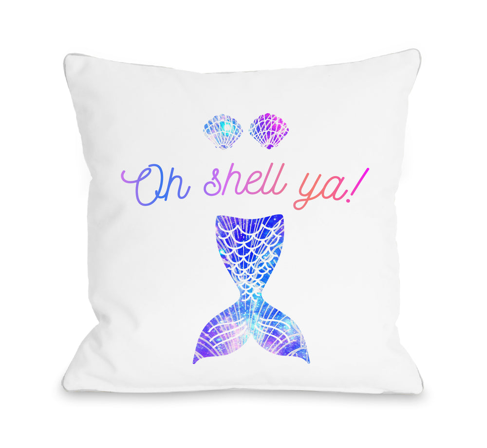 Shell Ya  - Throw Pillow by OBC