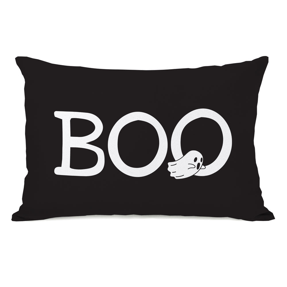 Boo Ghosts - Black 14x20 Pillow by OBC
