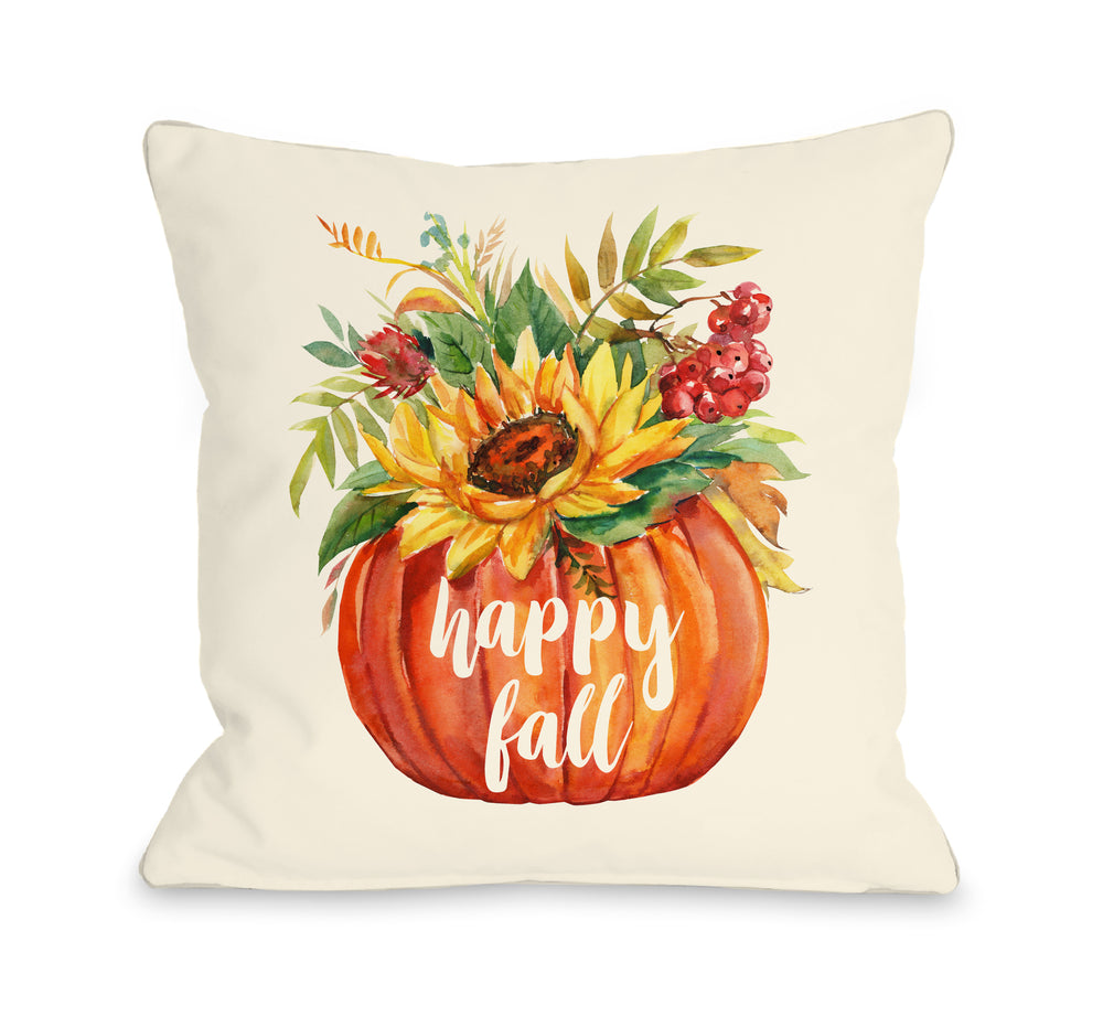 Happy Fall Floral Pumpkin - Multi by OBC