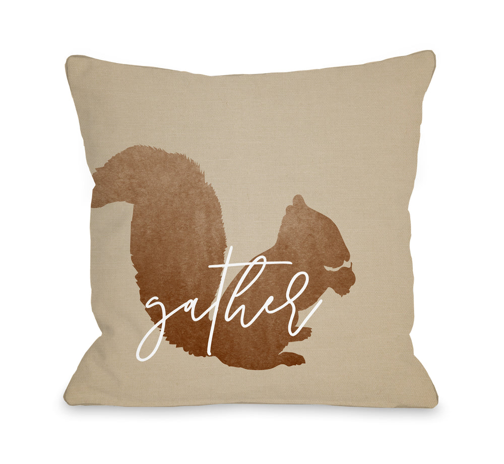 Squirrel Gather - Brown by OBC
