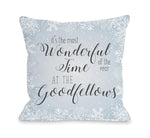 Most Wonderful Time Personalized - Blue  by OBC