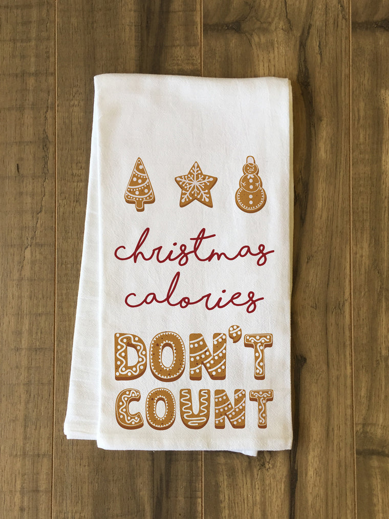 Christmas Calories Dont Count Kitchen Towel by OBC