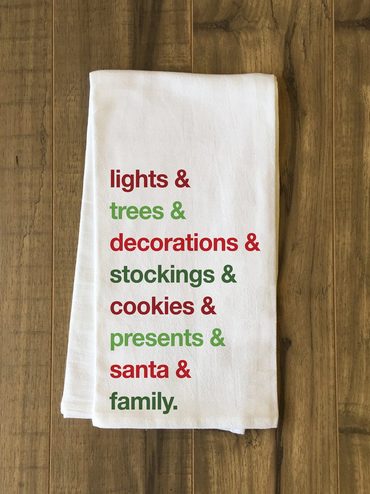 Christmas Words - Multi Kitchen Towel by OBC