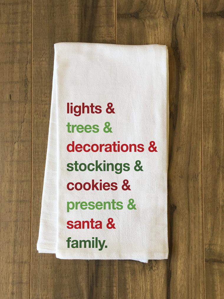 Christmas Words Kitchen Towel by OBC