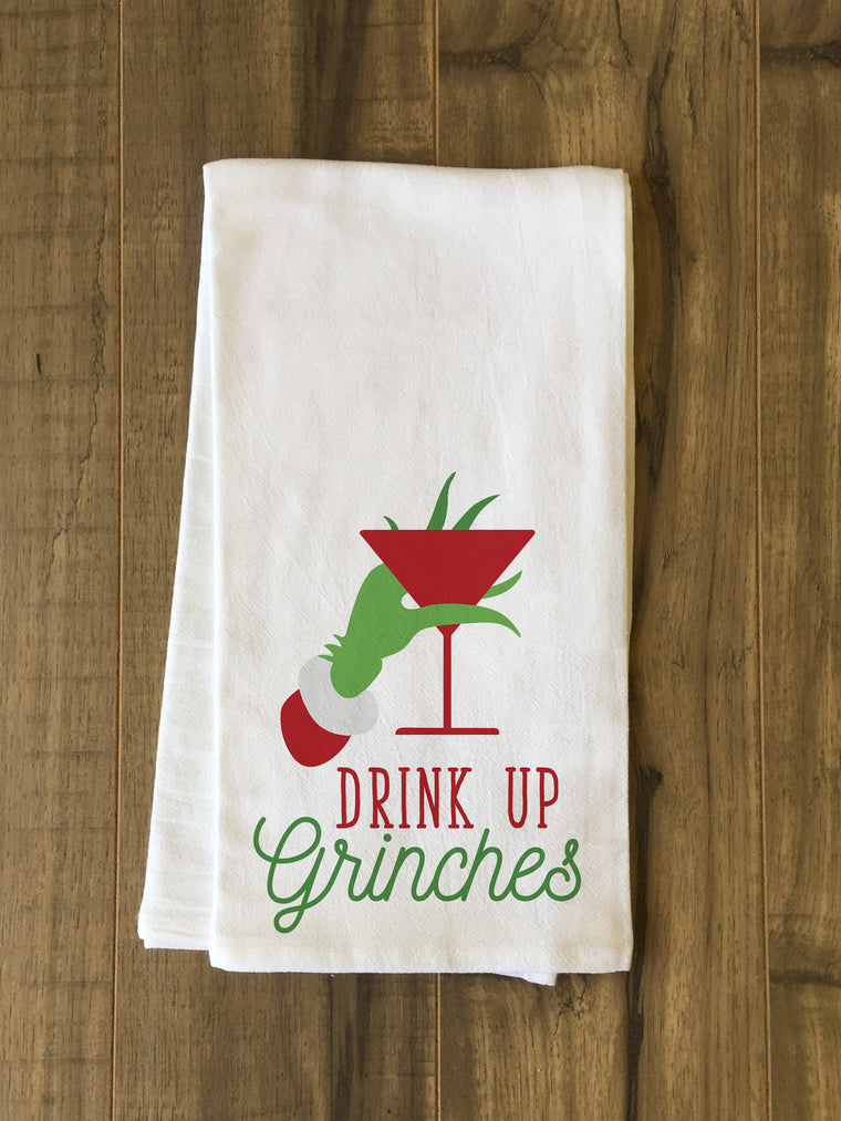 Drink Up Grinches Kitchen Towel by OBC