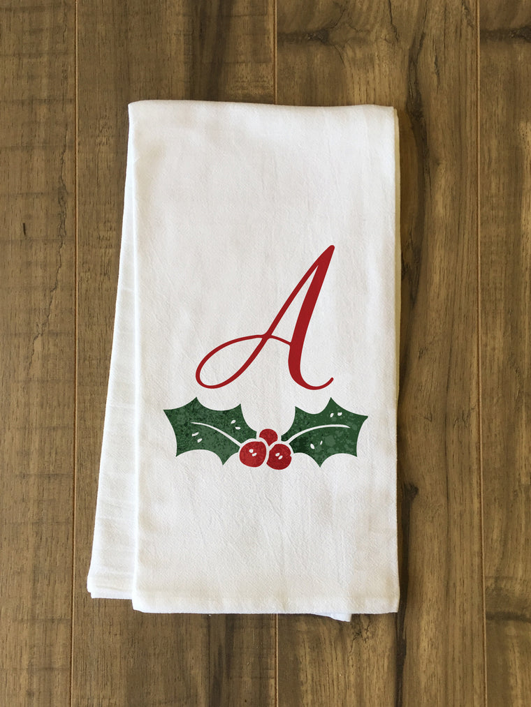 Monogram Holly Kitchen Towel by OBC