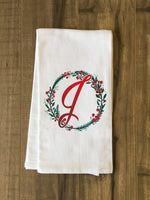 Monogram Script Holly J  - Multi Kitchen Towel by OBC