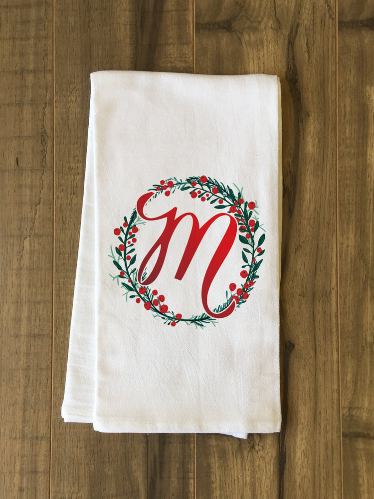 Monogram Script Holly M  - Multi Kitchen Towel by OBC