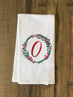 Monogram Script Holly O  - Multi Kitchen Towel by OBC