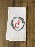 Monogram Script Holly S  - Multi Kitchen Towel by OBC