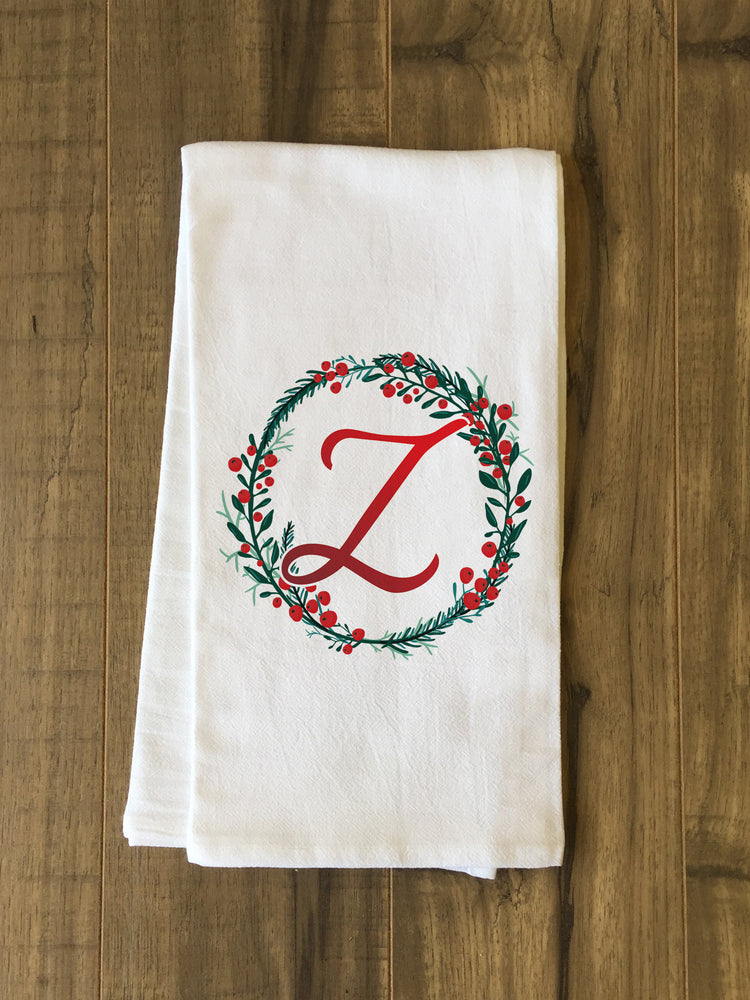 Monogram Script Holly Z  - Multi Kitchen Towel by OBC