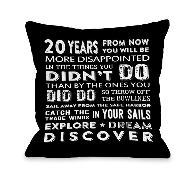 20 Years - Throw Pillow by Nancy Anderson
