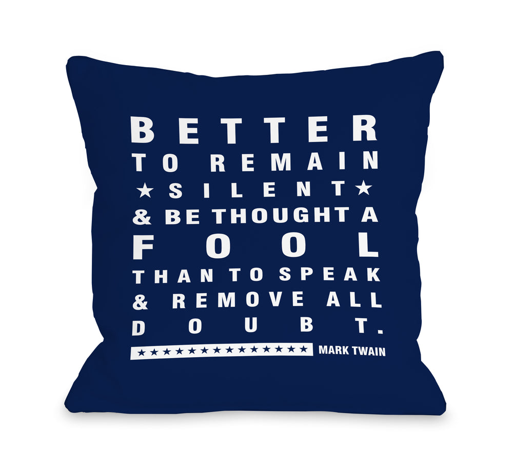 Better To Remain - Throw Pillow by Nancy Anderson