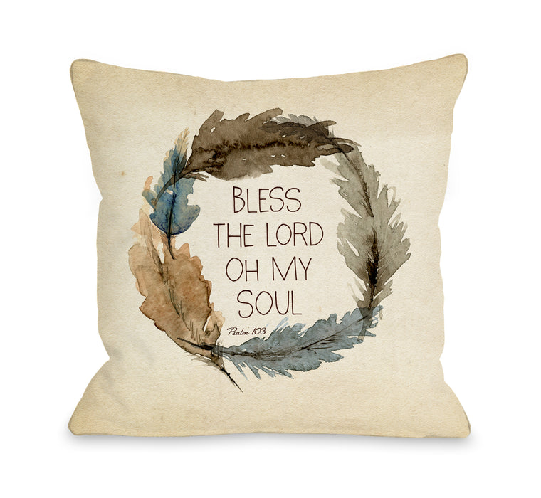 Bless The Lord - Throw Pillow by Nancy Anderson