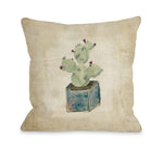 Cactus Box - Throw Pillow by Nancy Anderson