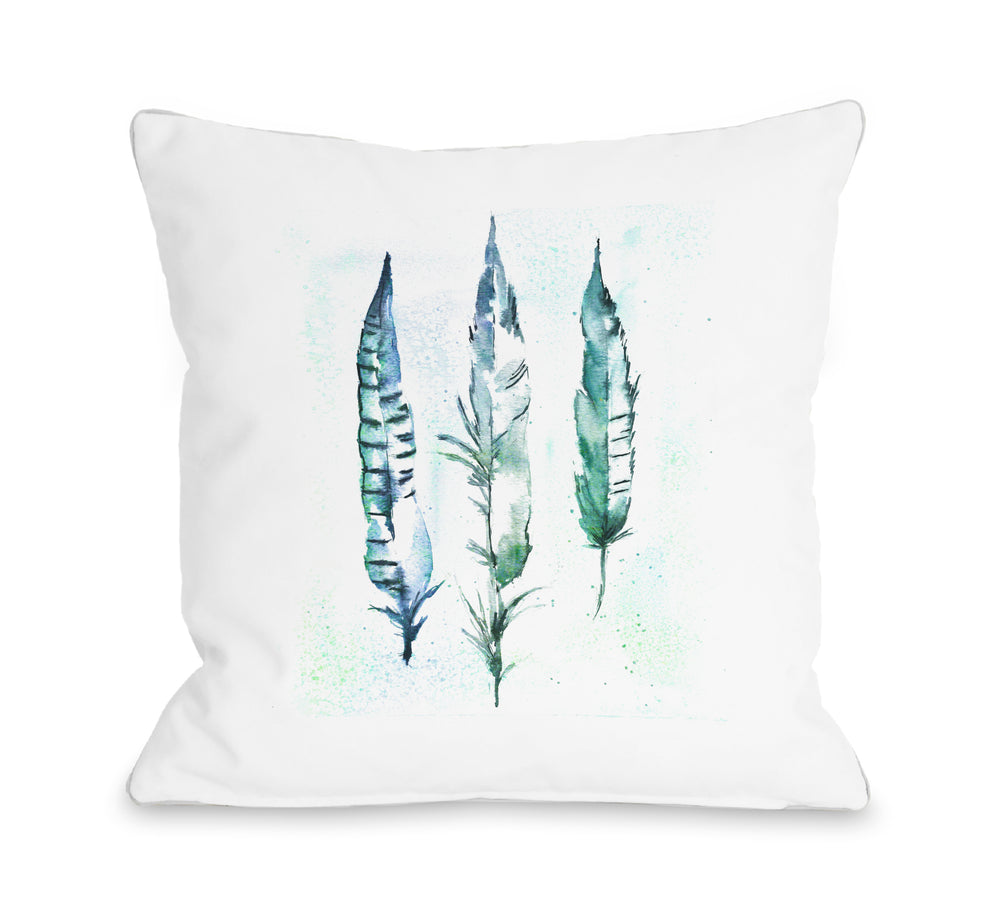 Feathers - Throw Pillow by Nancy Anderson