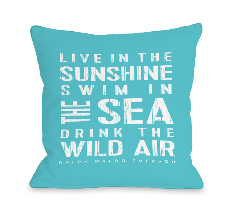 Live In The Sunshine - Throw Pillow by Nancy Anderson