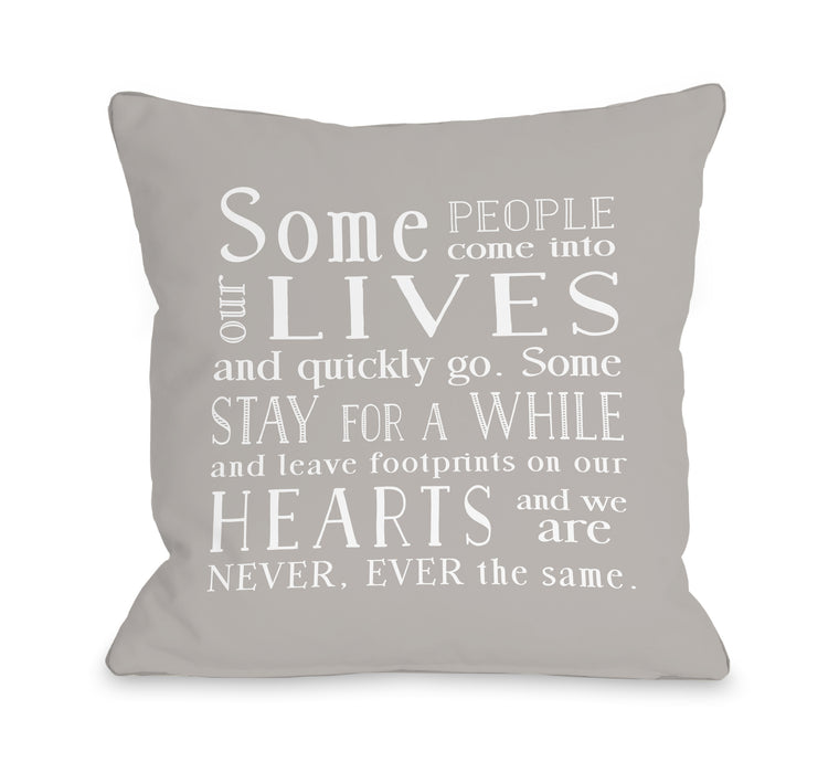 Some People - Throw Pillow by Nancy Anderson