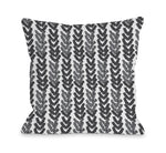 Up Arrows Dark - Throw Pillow by OBC