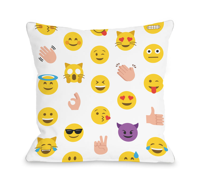 Emoji Blast - Throw Pillow by OBC