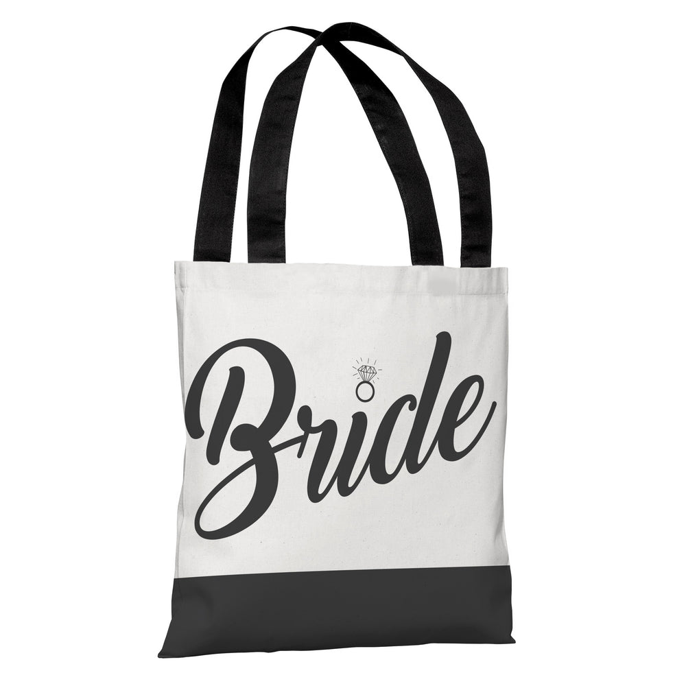 Color Block Bridal Party - Bride - Tote Bag by OBC