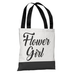 Color Block Bridal Party - Flower Girl - Tote Bag by OBC