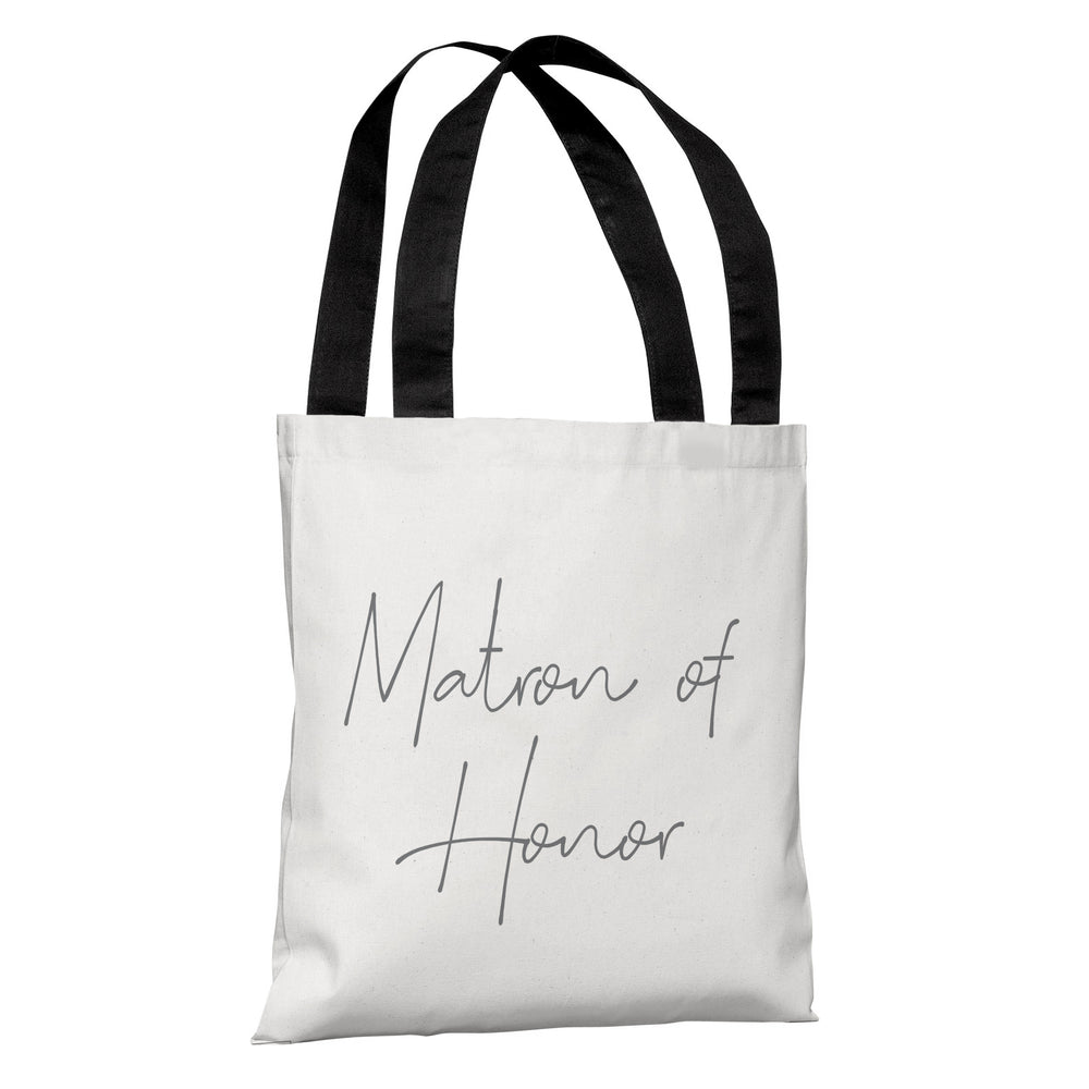 Script Ring Bridal Party - Matron of Honor - Tote Bag by OBC