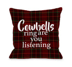 Cowbells Ring  Throw Pillow