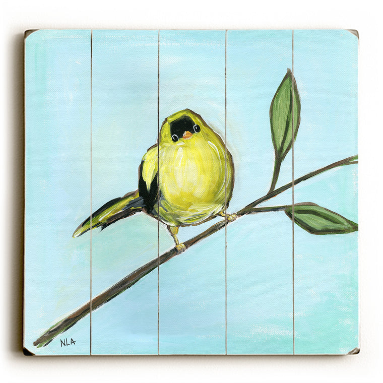 Little Yellow Bird Wood Wall Decor by Nancy Anderson
