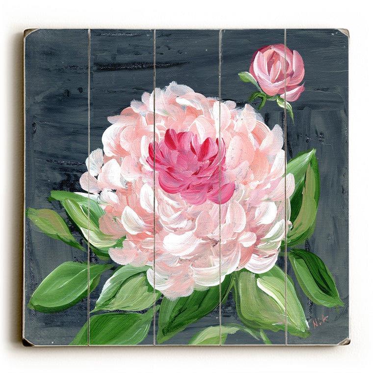 Peony 1 Wood Wall Decor by Nancy Anderson
