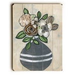 Autumn Floral Wood Wall Decor by Nancy Anderson