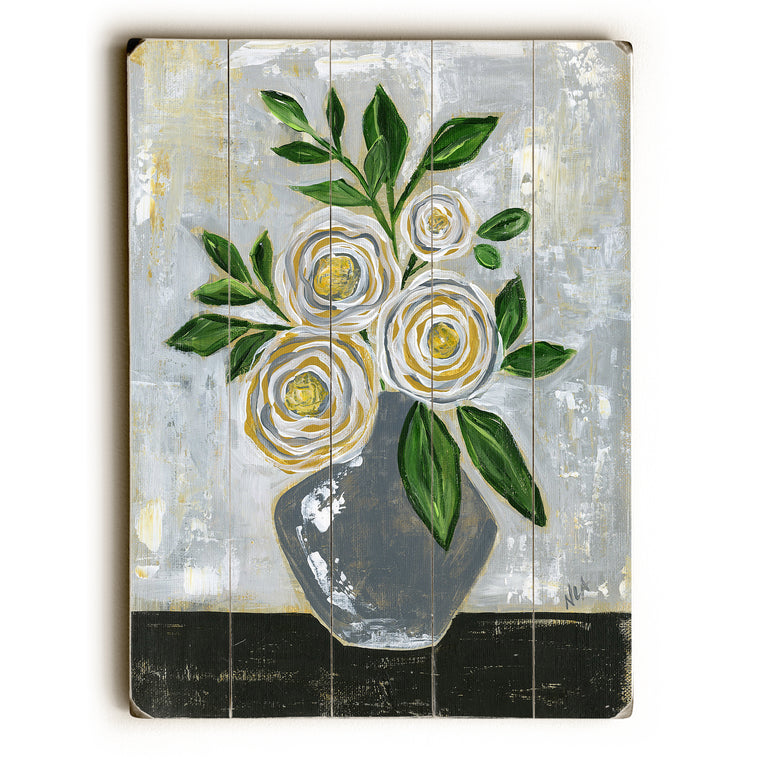 Mustard Grey Vace Wood Wall Decor by Nancy Anderson